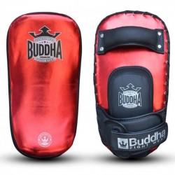 Muay thai paos Buda vermelho metálico