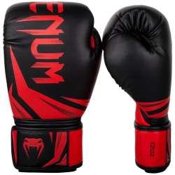 Luvas kick boxing Venum challenger 3.0 preto/vermelho