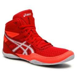 Botas boxe Asics matflex6 vermelho/branco