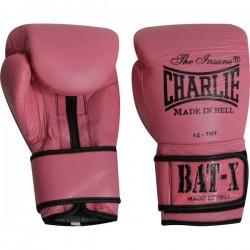 Luvas Boxe Charlie Bat-X rosa