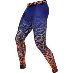 Meia-calça laranja azul Venum Tropical