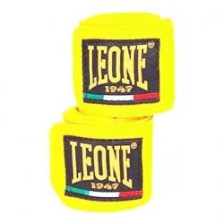 Bandagens de boxe leoa amarelo flúor