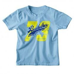 Camiseta infantil azul celeste do Buddha