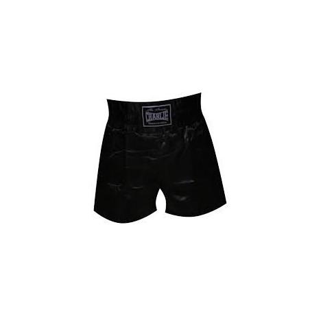 Shorts de boxe Charlie suave preto