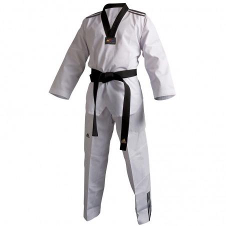 Dobok de taekwondo Adidas Adi-Club II ( listras pretas)