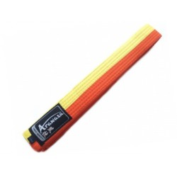 Cinto Karate Arawaza amarelho-laranja
