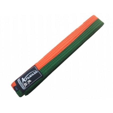 Cinto Karate Arazawa laranja/verde