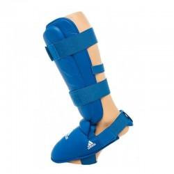 Guarda caneleiras de Karate Adidas 661.35 aprobadas azul
