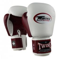 Luvas de boxe Twins Bgvl 14 branco/red wine