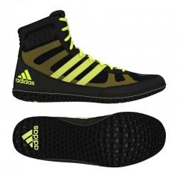 Botas de boxeo Adidas Mat Wizard 3 preto/amarelho